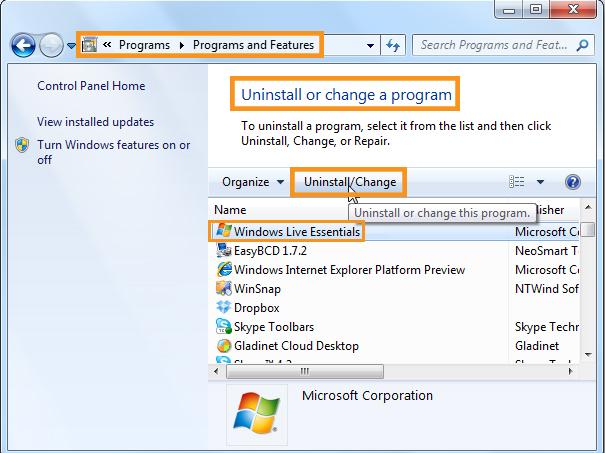 Repair Reinstall Windows Live Mail